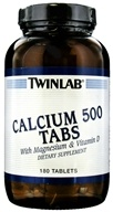 Twinlab - Calcium 500 Tabs With Magnesium & Vitamin D - 180 Tablets by Twinlab