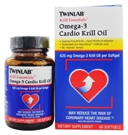 "Twinlab - Krill Essentials Omega-3 Cardio Krill Oil - 60 Gelcaps Formerly No ""Repeats"" (Burp) (027434031059)"