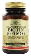 Solgar - Biotin Enhcanced Potency 1000 mcg. - 100 Vegetarian Capsules, from category: Vitamins & Minerals