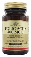Solgar - Folic Acid 400 mcg. - 100 Tablets, from category: Vitamins & Minerals