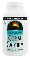 Source Naturals - Coral Calcium 600 mg. - 240 Tablets - $28.99
