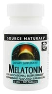 Source Naturals - Melatonin Sublingual Peppermint 5 mg. - 100 Tablets - $14.55