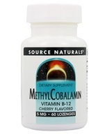 Source Naturals - MethylCobalamin Vitamin B-12 Sublingual Cherry 5 mg. - 60 Tablets