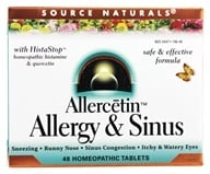 Source Naturals - Allercetin Allergy & Sinus With HistaStop - 48 Tablets, from category: Nutritional Supplements