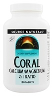 Image of Source Naturals - Coral Calcium/Magnesium 2:1 Ratio - 180 Tablets
