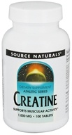 Image of Source Naturals - Athletic Series Creatine Tablets 1000 mg. - 100 Tablets CLEARANCED PRICED