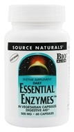 Source Naturals - Daily Essential Enzymes 500 mg. - 60 Vegetarian Capsules by Source Naturals