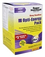 Super Nutrition - Opti-Energy Pack Easy Swallow Iron Free - 90 Packet(s)