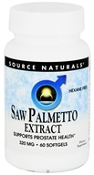 Image of Source Naturals - Saw Palmetto Extract 320 mg. - 60 Softgels
