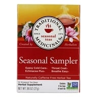 Image of Traditional Medicinals - Cold Season Sampler Tea - 16 Tea Bags