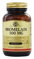 Solgar - Bromelain 500 mg. - 60 Tablets, from category: Nutritional Supplements