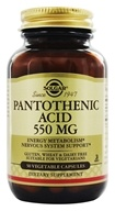 Solgar - Pantothenic Acid 550 mg. - 50 Vegetarian Capsules (033984021709)
