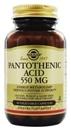Solgar - Pantothenic Acid 550 mg. - 50 Vegetarian Capsules by Solgar