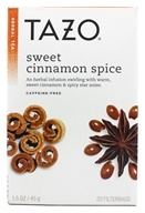 Tazo - Herbal Tea Caffeine Free Sweet Cinnamon Spice - 20 Tea Bags - $3.47