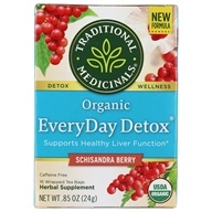 Traditional Medicinals - EveryDay Detox Tea - Promotes Healthy Liver Function - 16 Tea Bags (032917000897)