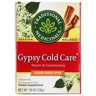 Image of Traditional Medicinals - Gypsy Cold Care Tea - Promotes Respiratory Health - 16 Tea Bags