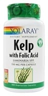 Solaray - Kelp With Folic Acid 600 mg. - 100 Vegetarian Capsules (076280013658)