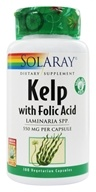 Solaray - Kelp With Folic Acid 600 mg. - 100 Vegetarian Capsules