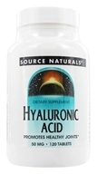 Image of Source Naturals - Hyaluronic Acid from Bio-Cell Collagen II 50 mg. - 120 Tablets