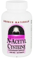 Source Naturals - N-Acetyl Cysteine 1000 mg. - 60 Tablets (021078001690)