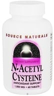Source Naturals - N-Acetyl Cysteine 1000 mg. - 60 Tablets, from category: Nutritional Supplements