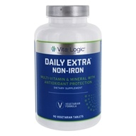 Vita Logic - Daily Extra Iron Free Complete Multi-Vitamin & Mineral Formula Once Daily - 90 Tablets - $27.82