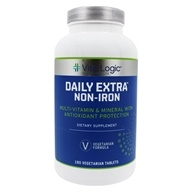 Vita Logic - Daily Extra Iron Free Complete Multi-Vitamin & Mineral Formula Once Daily - 180 Tablets