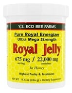 YS Organic Bee Farms - Royal Jelly In Honey Pure Roal Energizer Ultra Mega Strength 22000 mg. - 11.5 oz. (726635520521)