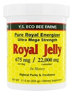 YS Organic Bee Farms - Royal Jelly In Honey Pure Roal Energizer Ultra Mega Strength 22000 mg. - 11.5 oz., from category: Nutritional Supplements