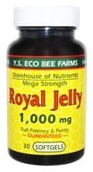 YS Organic Bee Farms - Royal Jelly Softgels 1000 mg. - 30 Softgels (726635777277)