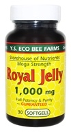 YS Organic Bee Farms - Royal Jelly Softgels 1000 mg. - 30 Softgels - $10.63