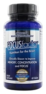 Factor Nutrition Labs - Focus Factor - 60 Tablets, from category: Nutritional Supplements