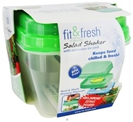 Image of Fit & Fresh - Salad Shaker with Removable Ice Pack