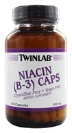 Twinlab - Niacin (B-3) Caps Crystalline Pure 500 mg. - 100 Capsules, from category: Vitamins & Minerals