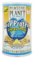 VegLife - Peaceful Planet Rice Protein Energy Shake African Vanilla - 11.7 oz. by VegLife