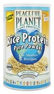 VegLife - Peaceful Planet Rice Protein Pure Powder Unflavored - 20.4 oz. by VegLife