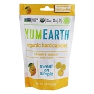 Yummy Earth - Organic Candy Drops Gluten Free Cheeky Lemon Flavor - 3.3 oz. (93.5g) by Yummy Earth