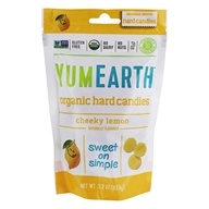 Image of Yummy Earth - Organic Candy Drops Gluten Free Cheeky Lemon Flavor - 3.3 oz. (93.5g)