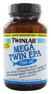 Twinlab - Mega Twin EPA Fish Oil 1200 mg. - 60 Softgels (027434001861)