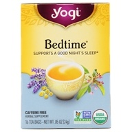 Yogi Tea - Bedtime Natural Sleep Aid Tea Organic Healing Formula Caffeine Free - 16 Tea Bags by Yogi Tea