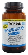 Image of Twinlab - Norwegian Cod Liver Oil - 250 Softgels