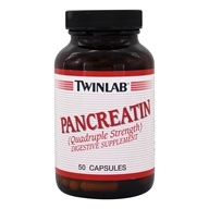 Twinlab - Pancreatin Quadruple Strength - 50 Capsules by Twinlab