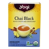 Yogi Tea - Chai Black Organic Tea - 16 Tea Bags (076950415317)