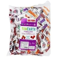 Yum Earth - Organic Lollipops Gluten-Free Fruit Flavors - 5 lbs. BULK VALUE!