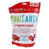 Yummy Earth - Organic Lollipops Gluten Free Fruit Flavors - 12.3 oz. (890146001869)