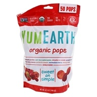 Yum Earth - Organic Lollipops Gluten-Free Fruit Flavors - 12.3 oz.