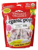 Yummy Earth - Organic Lollipops Gluten Free Pomegranate Pucker Flavor - 12.3 oz.