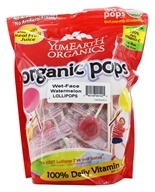 Yum Earth - Organic Lollipops Gluten Free Wet-Face Watermelon Flavor - 12.3 oz.
