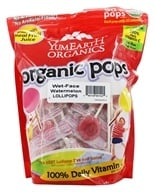 Yum Earth - Organic Lollipops Gluten-Free Wet-Face Watermelon Flavor - 12.3 oz.