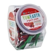 Yum Earth - Organic Lollipops Personal Bin Fruit Flavors - 6 oz. Approximately 25+ Lollipops